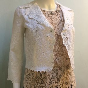 Elie Tahari Broderie Lace Cotton Summer Jacket